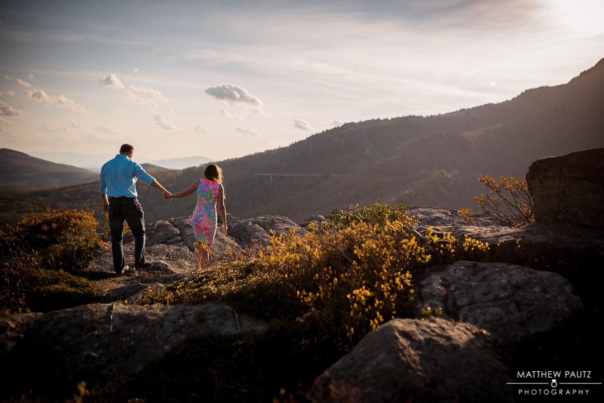 Asheville Wedding Photographers | Blue Ridge Mountain Engagement Photos