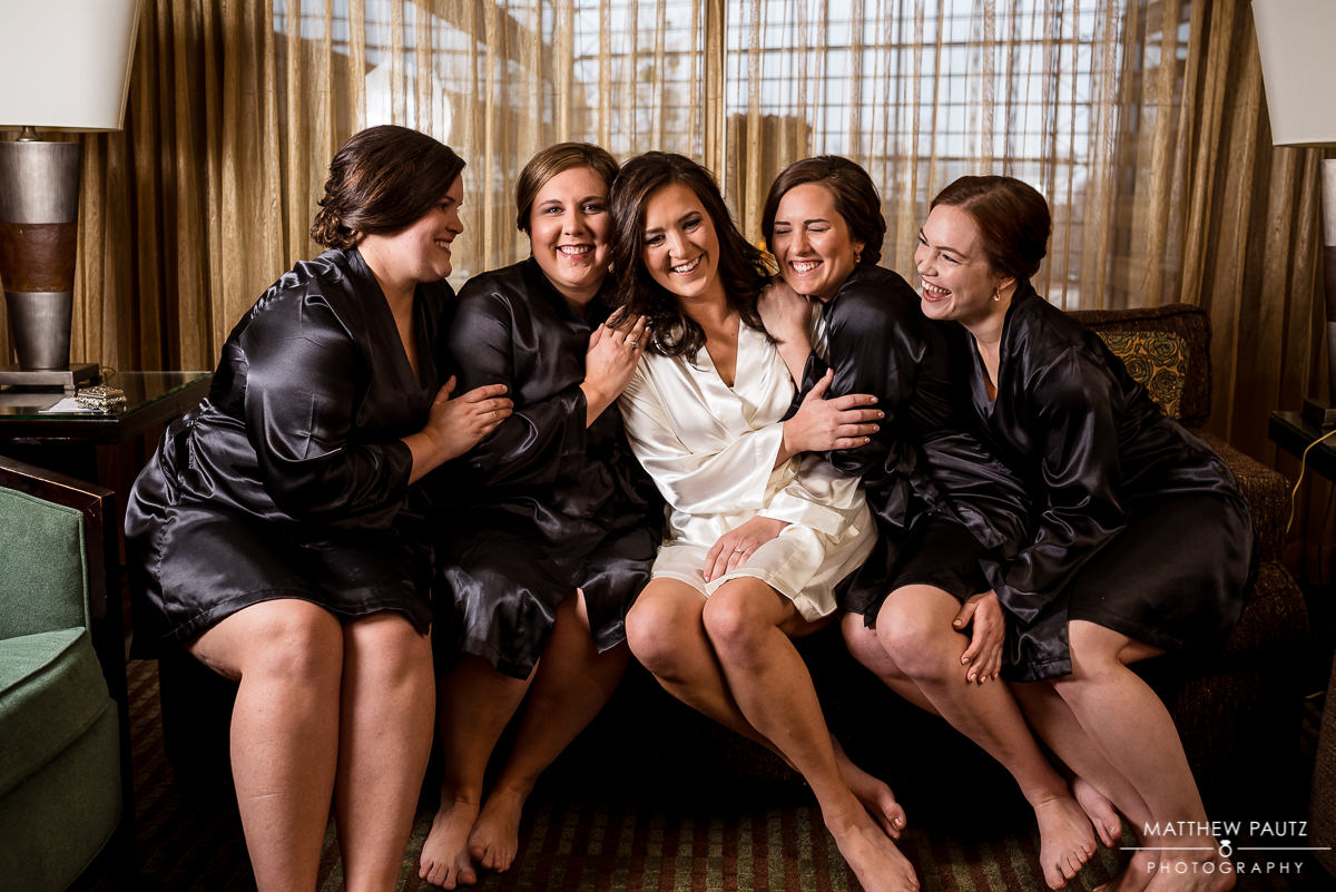 Commerce Club Wedding Photos | bridesmaids group photos