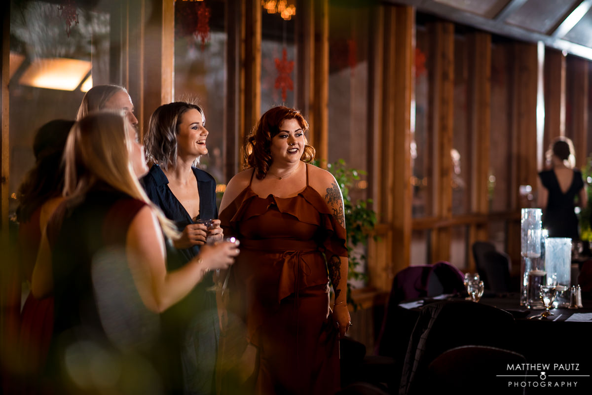 Asheville Crest Center wedding reception photos