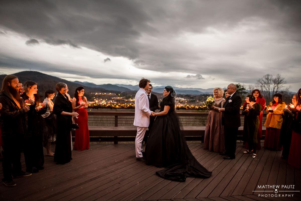 Crest Center Deck Wedding Photos