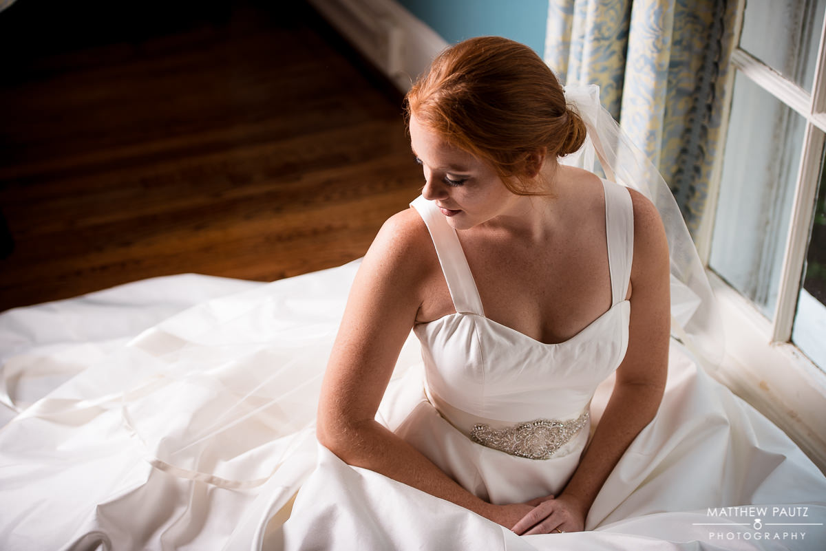 Bridal portrait at The Poinsett Club