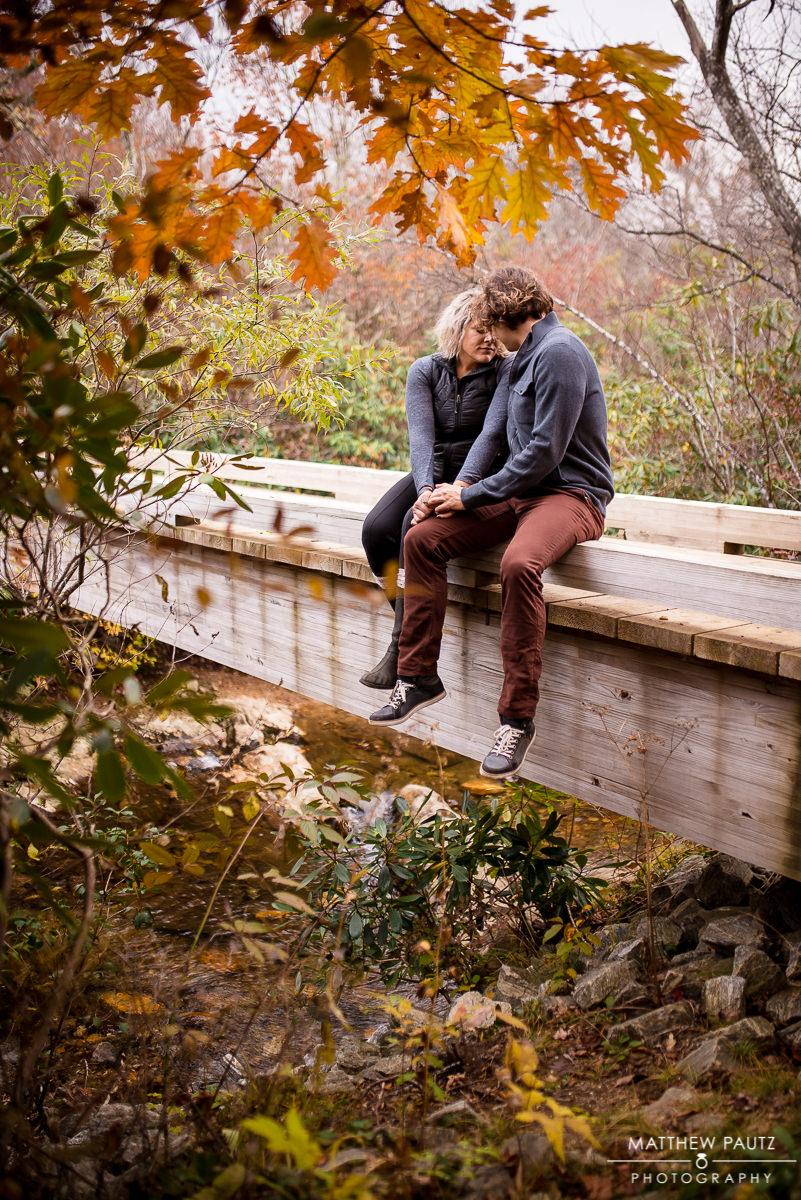 Blue Ridge Parkway Fall engagement photos