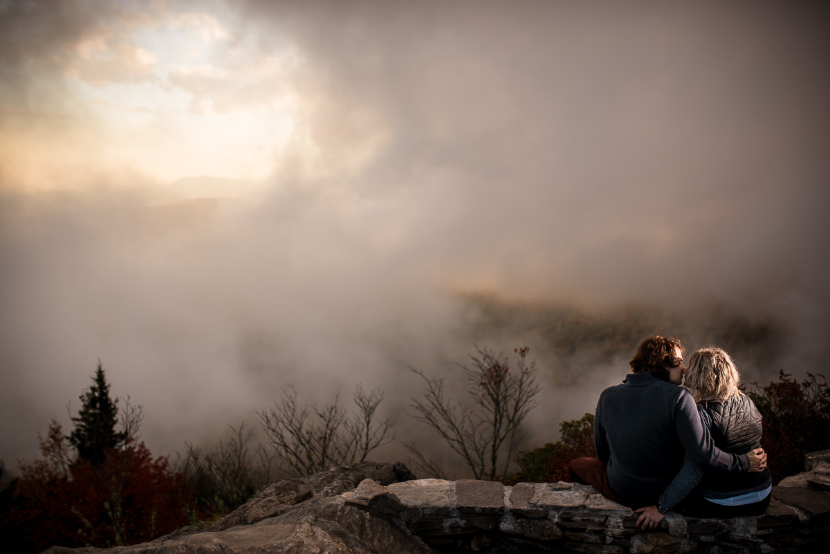 Fall Mountain Engagement Photos at the Blue Ridge Parkway