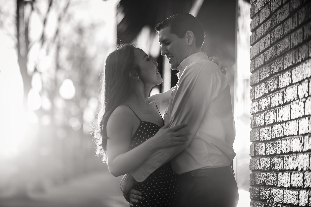 downtown Greenville Spring engagement photos