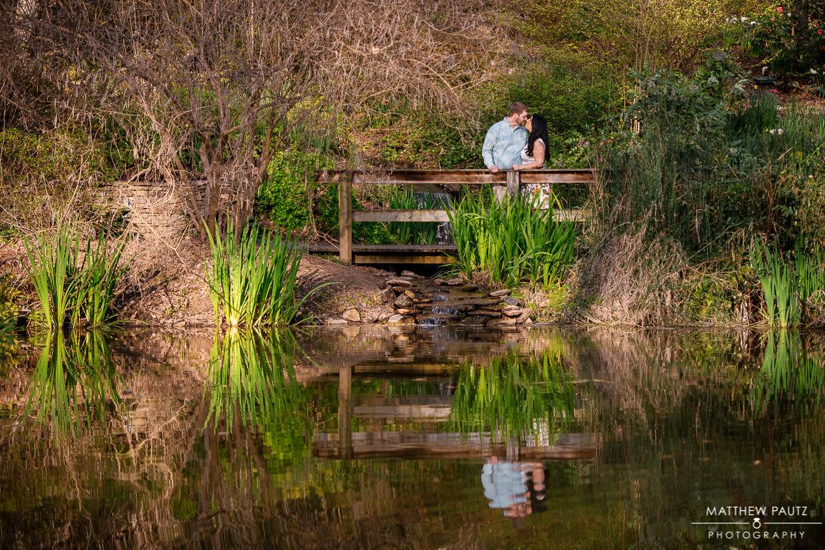 Sc Botanical gardens engagement photos