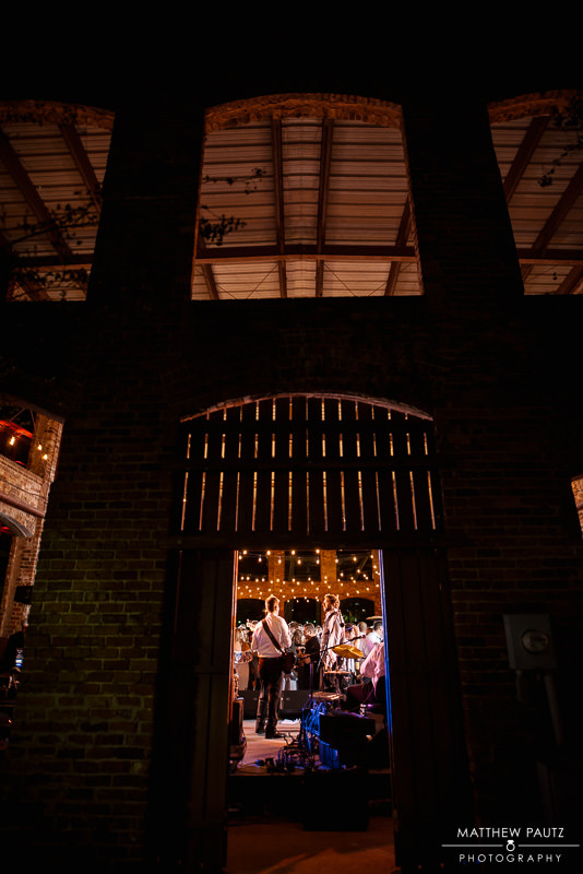 wyche pavilion wedding at night