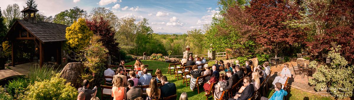 panorama photo of viewpoint at buckhorn creek wedding