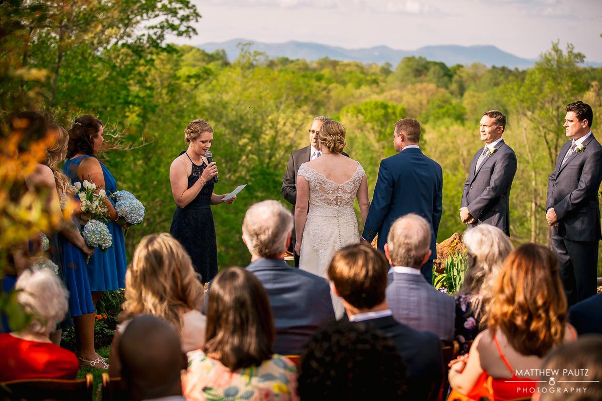 outdoor wedding ceremony speeches