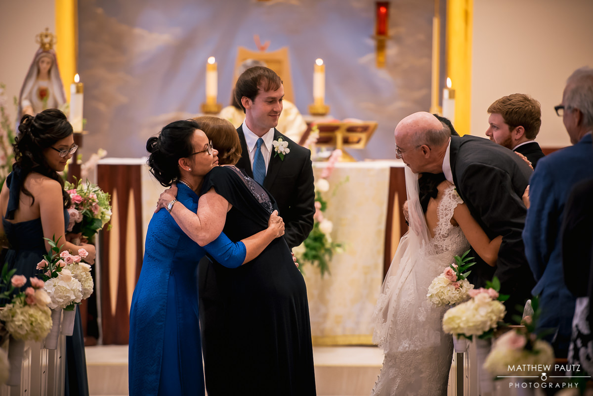 wedding ceremony at our lady of la vang
