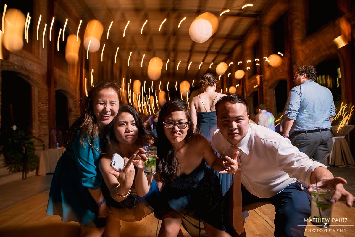 shutter drag reception photos