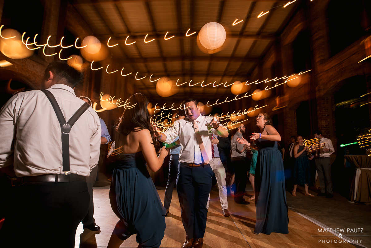 guests dancing and having fun at wyche pavilion